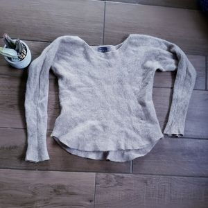 Vince Ribbed Cashmere Crew Neck Slim Sweater